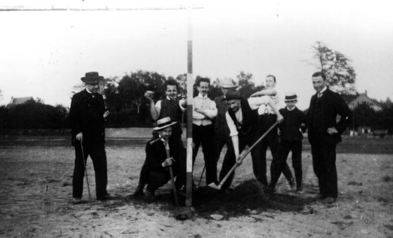 Erstes Fussballtor FC Langen März 1903