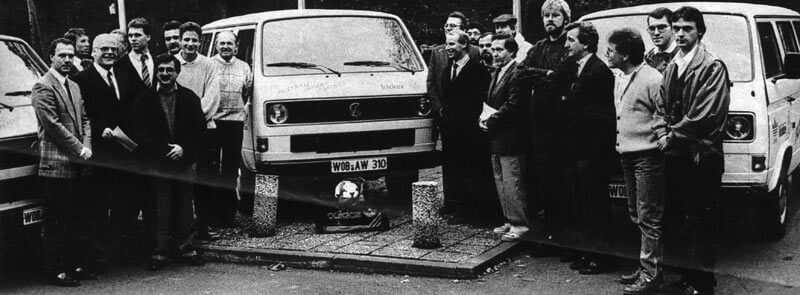Übergabe Des Kicker Busses Durch Franz Beckenbauer