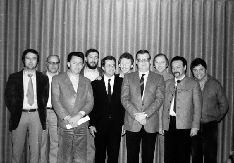 Vorstand FC Langen Nach Der Generalversammlung 1982